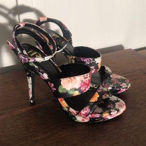 FRH Floral Heeled Sandals